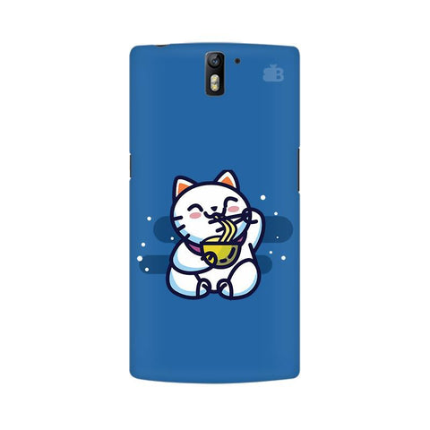 KItty eating Noodles OnePlus One Phone Cover