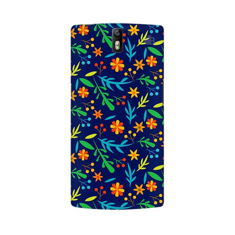 Vibrant Floral Pattern OnePlus One Phone Cover