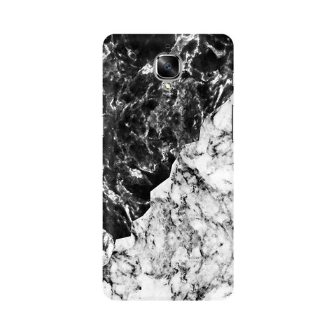 Black White Marble OnePlus 3T Phone Cover