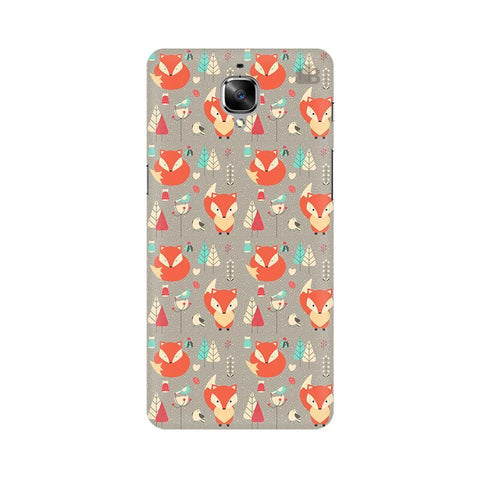 Foxy Pattern OnePlus 3T Phone Cover