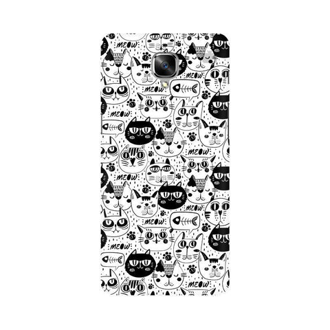 Cute Cats Pattern OnePlus 3 Phone Cover