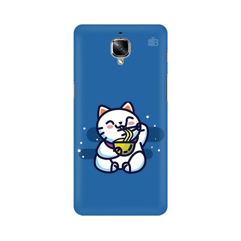 KItty eating Noodles OnePlus 3 Phone Cover