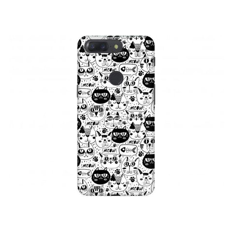 Cute Cats Pattern OnePlus 5T Phone Cover