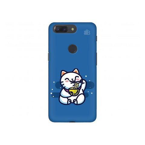 KItty eating Noodles OnePlus 5T Phone Cover