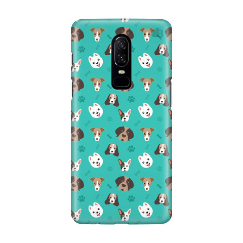 Doggie Pattern OnePlus 6 Phone Cover