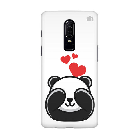 Panda In Love OnePlus 6 Phone Cover