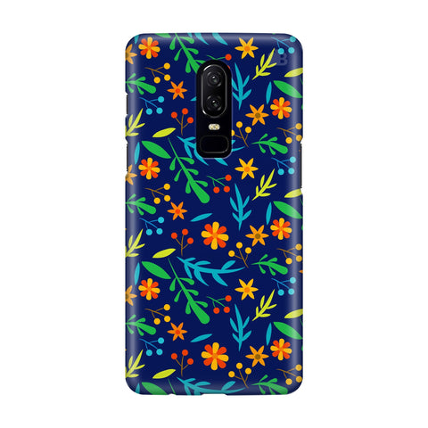 Vibrant Floral Pattern OnePlus 6 Phone Cover