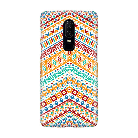 Wavy Ethnic Art OnePlus 6 Phone Cover