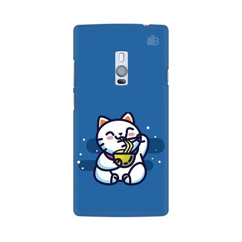 KItty eating Noodles OnePlus Two Phone Cover