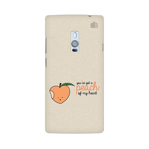 Peach of my heart OnePlus Two Phone Cover