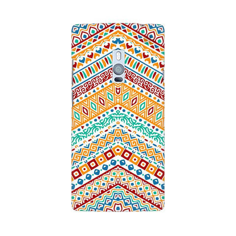 Wavy Ethnic Art OnePlus Two Phone Cover