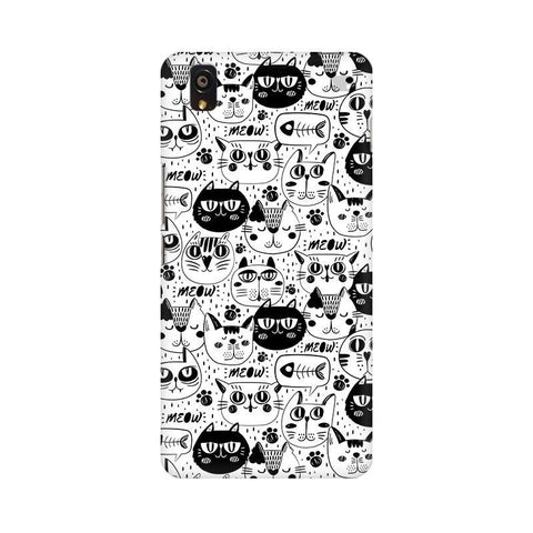 Cute Cats Pattern OnePlus X Phone Cover
