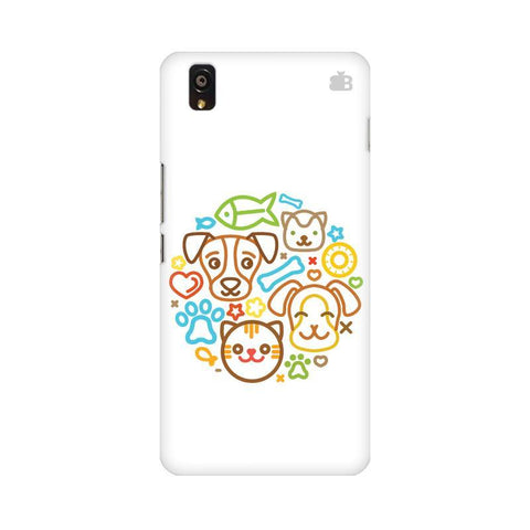 Cute Pets OnePlus X Phone Cover