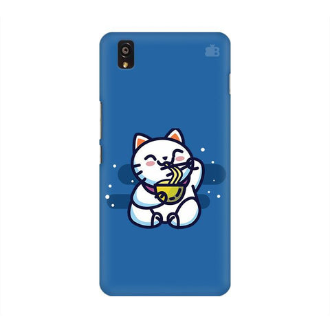 KItty eating Noodles OnePlus X Phone Cover