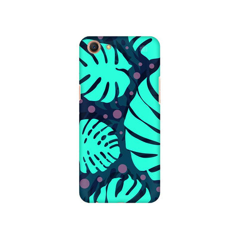 Tropical Leaves Pattern Oppo A1 Cover