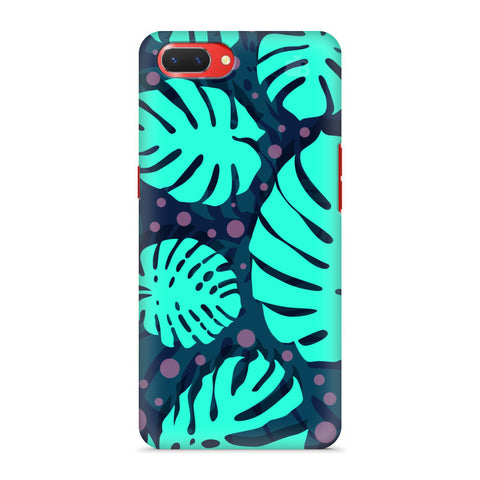 Tropical Leaves Pattern Oppo A3S Cover