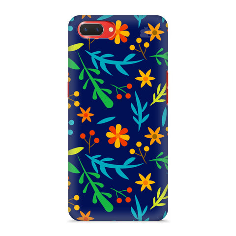 Vibrant Floral Pattern Oppo A3S Cover