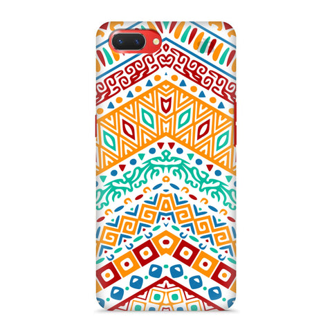 Wavy Ethnic Art Oppo A3S Cover