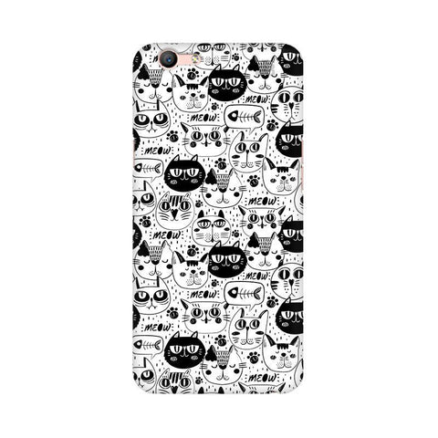 Cute Cats Pattern Oppo A57 Phone Cover