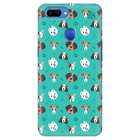 Doggie Pattern Oppo A5 Cover