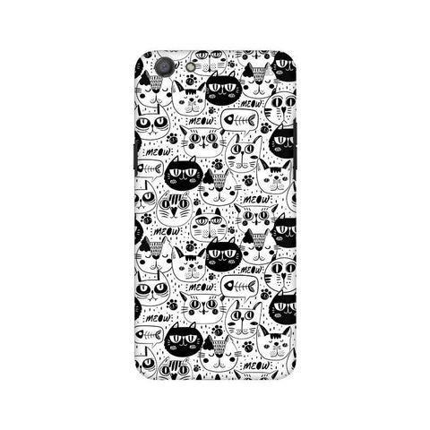 Cute Cats Pattern Oppo A77 Phone Cover