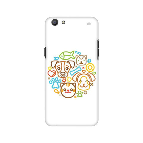Cute Pets Oppo A77 Phone Cover