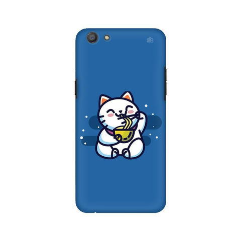 KItty eating Noodles Oppo A77 Phone Cover