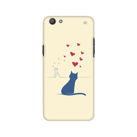 Kitty in Love Oppo A77 Phone Cover