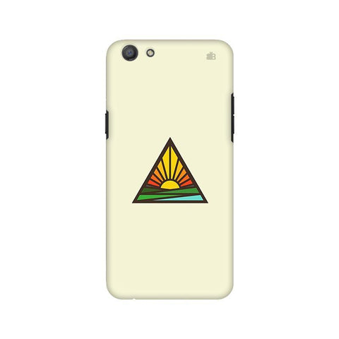 Triangular Sun Oppo A77 Phone Cover