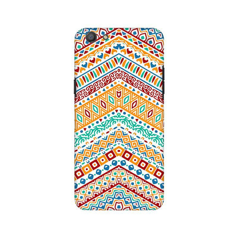 Wavy Ethnic Art Oppo A77 Phone Cover