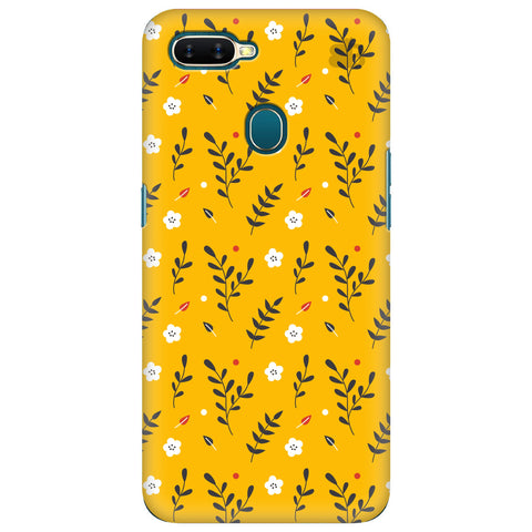 Summer Floral Pattern Oppo A7 Cover
