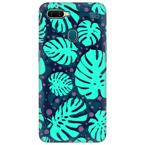 Tropical Leaves Pattern Oppo A7 Cover