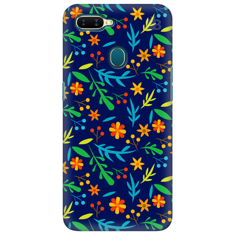 Vibrant Floral Pattern Oppo A7 Cover