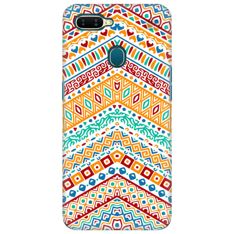 Wavy Ethnic Art Oppo A7 Cover