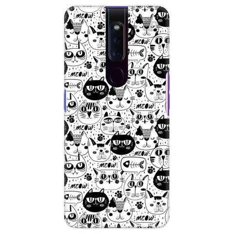 Cute Cats Pattern Oppo F11 Pro Cover