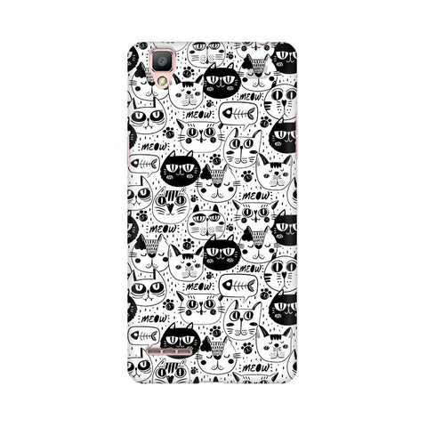 Cute Cats Pattern Oppo F1 Plus Phone Cover