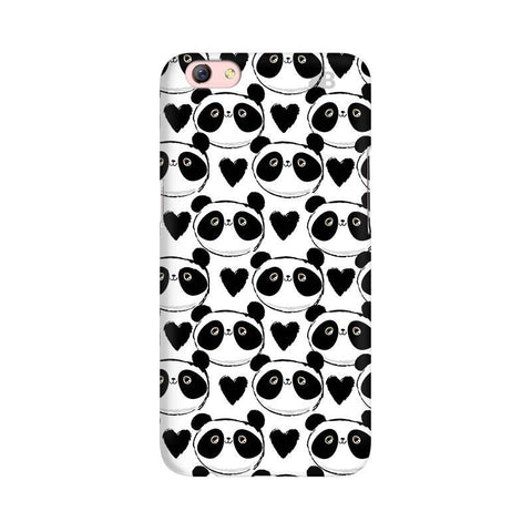 Happy Panda Pattern Oppo F3 Plus Phone Cover