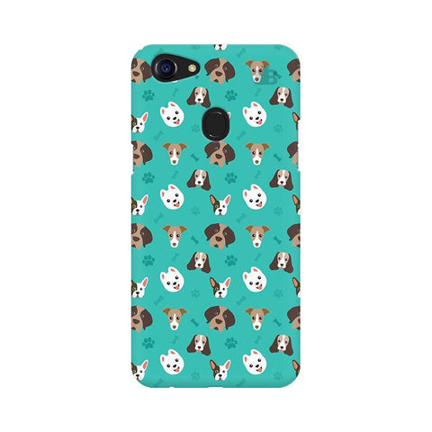 Doggie Pattern Oppo F5 Phone Cover