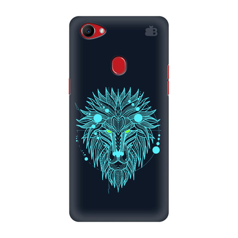 Abstract Art Lion Oppo F7 Cover