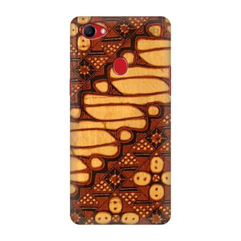 Brown Batik Oppo F7 Cover