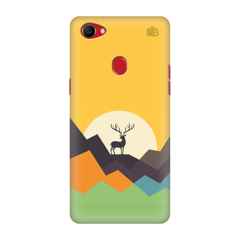 Deer in Mountains Oppo F7 Cover