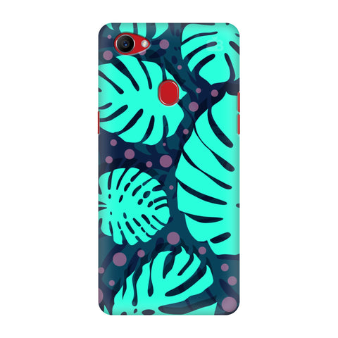 Tropical Leaves Pattern Oppo F7 Cover