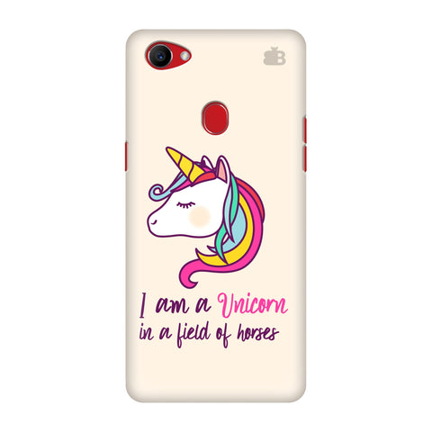 Unicorn in Horses Oppo F7 Cover