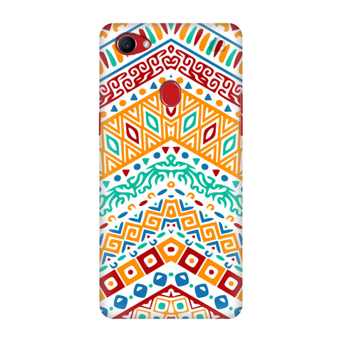 Wavy Ethnic Art Oppo F7 Cover