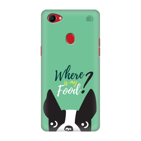 Where is my Food Oppo F7 Cover