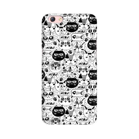 Cute Cats Pattern Oppo R9s Phone Cover