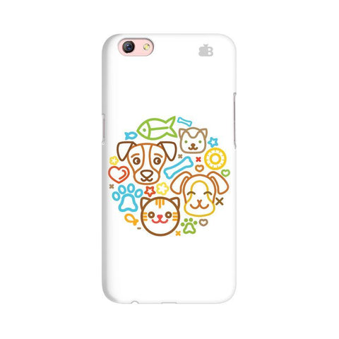 Cute Pets Oppo R9s Phone Cover