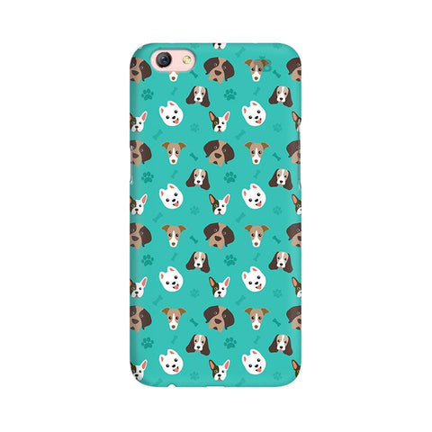 Doggie Pattern Oppo R9s Phone Cover