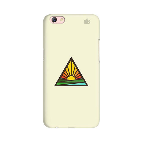 Triangular Sun Oppo R9s Phone Cover