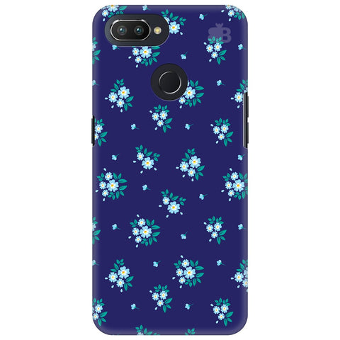 Blue Floral Pattern Oppo RealMe 2 Pro Cover